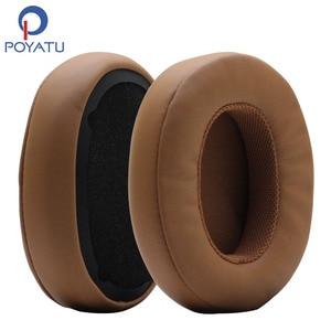 Image 1 - POYATU Ohrpolster für Skullcandy Brecher Bluetooth Drahtlose Kopfhörer Grau/Tan Braun Ersatz Ohr Kissen Ohr pads Tassen Reparatur