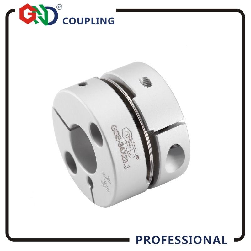 все цены на Coupling GND aluminum alloy CNC D28mm L21.5mm single diaphragm clamp for hollow encoder shaft coupling stepper motor connect онлайн