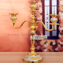 European high-grade gold white candlestick birthday candle holders romantic wedding props ornaments housewarming multi style