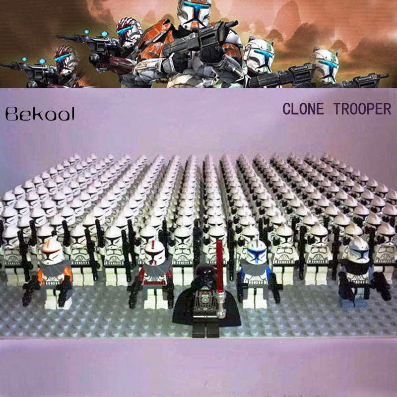 21pcs Lot Star Wars Clone Trooper Commandant Fox Rex Mini Jouet Bloc de construction NEUF