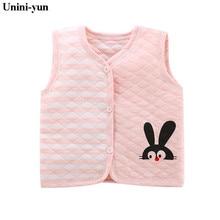 Unini-yun/Детский жилет Детская жилетка для девочек зимний жилет весна, верхняя одежда для маленьких мальчиков и девочек, пальто для новорожденных, 6 мес.-6 лет