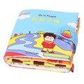 Livro atividade Bebê Dos Desenhos Animados Macio Livro de Pano Brinquedo Educativo Brinquedo Desenvolvimento da Inteligência