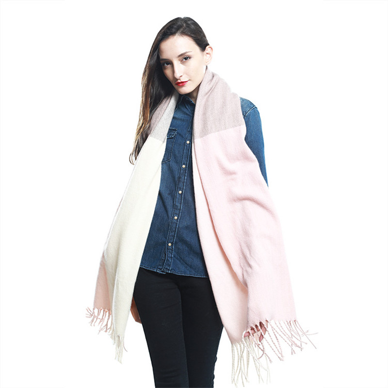 Winter   Scarf   Women Cashmere Plaid Pashmina Patchwork   Scarf     Wraps   Female   Scarves   and Shawls