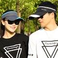 Verão chapéus das mulheres dos homens sun viseiras viseiras de golfe ao ar livre proteção uv de secagem rápida cap tênis bordados brim snapback bonés de beisebol