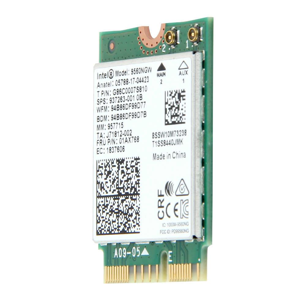 Dual Band 1 73Gbps Wireless For Intel AC 9560 9560NGW NGFF Key E Wifi Card  9560AC 8020 11ac Bluetooth 5 0 Laptop for Windows 10