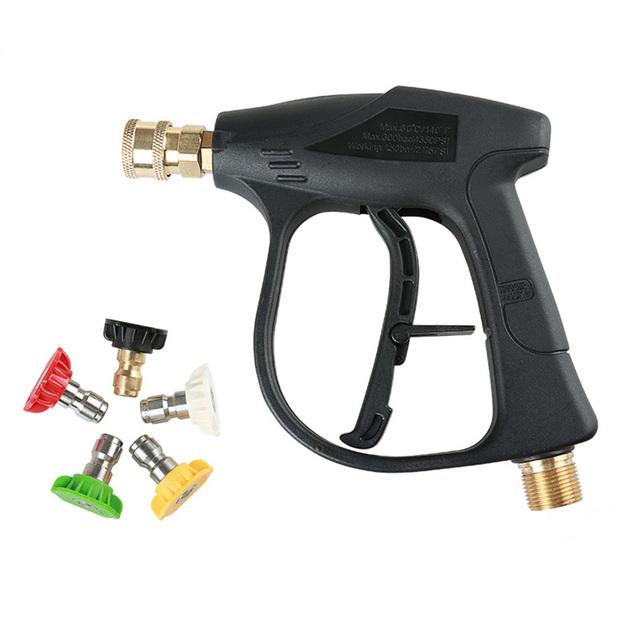 M22 x 1.5 mm High Pressure Car Washer Gun Washer Gun With 5 Nozzles for Car Pressure Power Washers Water Gun Cleaning Tools