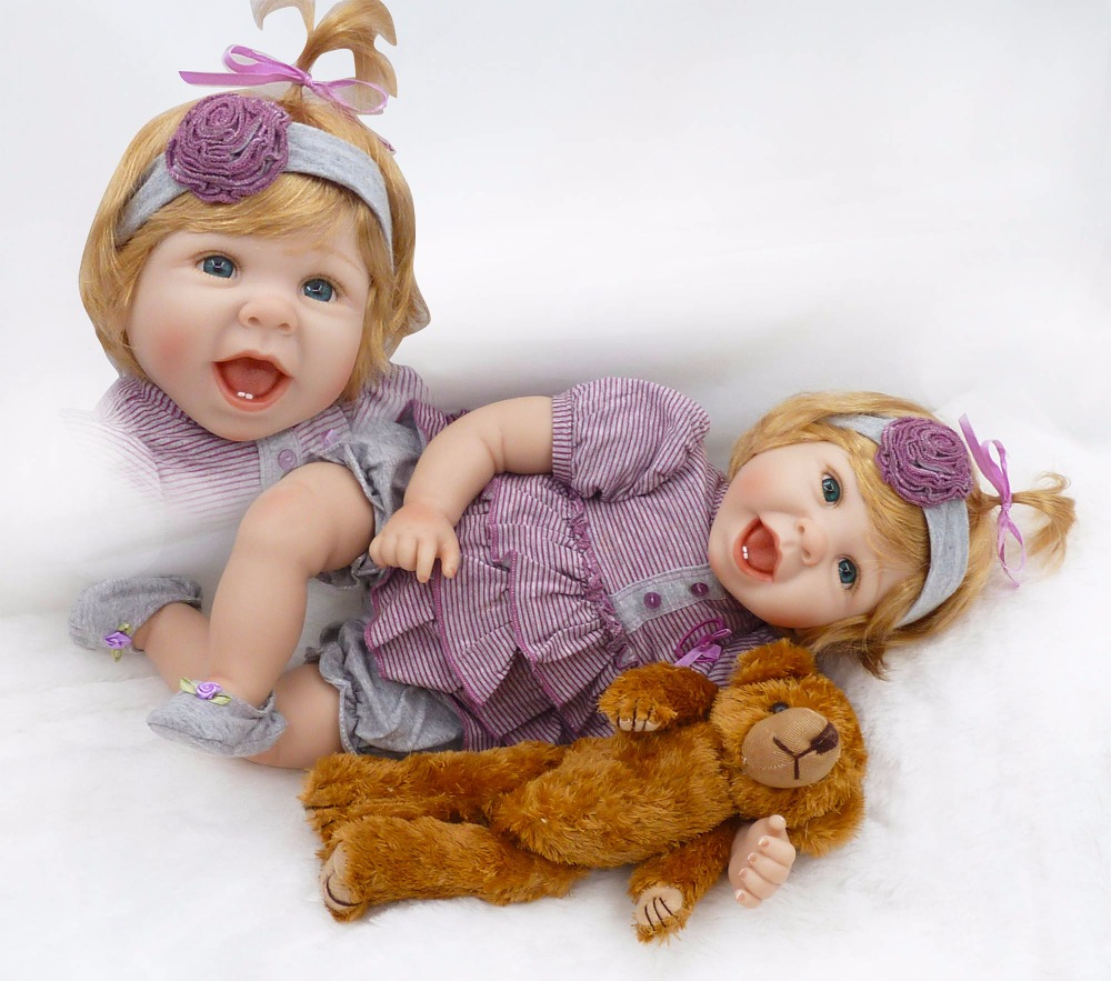 50cm silicone reborn baby dolls with bear plush doll toys for girls 20inch american girl dolls for girls -doll-in-the-balls