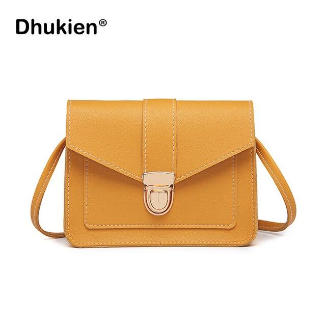 Fashion Small Crossbody Bags for Women 2018 Mini PU Leather Shoulder Messenger Bag for Girl Yellow Bolsas Ladies Phone Purse