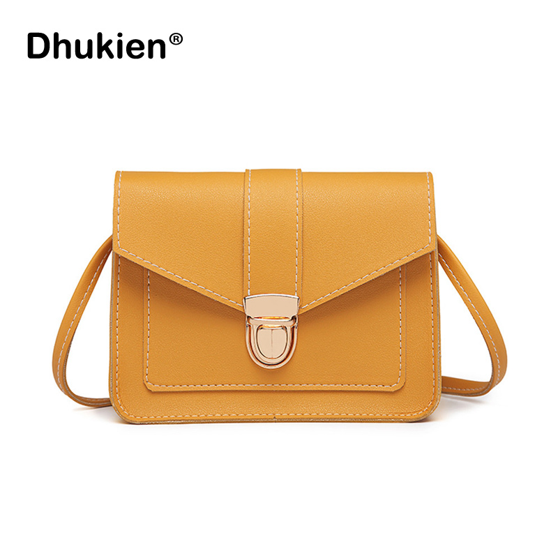 Fashion Small Crossbody Bags for Women 2018 Mini PU Leather Shoulder Messenger Bag for Girl Yellow Bolsas Ladies Phone Purse