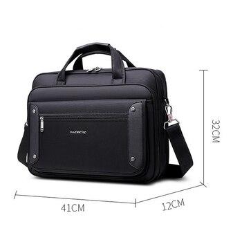 Hohe Qualität Business Handtaschen Männer Marke Kommerziellen Aktentasche Tasche Große Kapazität Laptop Notebook Tasche Männlichen Schulter Taschen Große