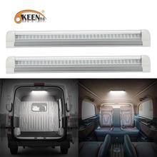 OKEEN 2 adet Evrensel 12 V LED Iç Işık Çubuğu 108LED ışık şeridi ile ON/OFF Anahtarı RV Van kamyon Kamyon Camper Tekne Karavan