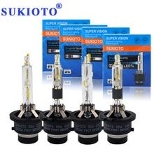 Sukioto OEM Оригинальный ксеноновая лампа 55 Вт D2R D2S 5500 К D4S D4R ксеноновые лампы фар огни D2 D4 fortuner Venza PRIUS проектор