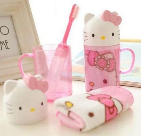 Kawaii Wash Cup Set   Hello Kitty Doraemon Size 12 5CM Travel Plastic Bathroom Set. Popular Hello Kitty Mug Set Buy Cheap Hello Kitty Mug Set lots