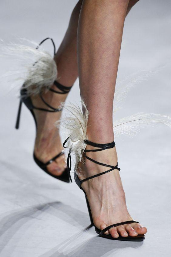 Dames Talons En À La Cheville Cuir Chaussures Valentine D'été Noir Bride Robe Formelle Sandalias Hauts Sandales Beige Femmes Feminina noir Plume wBqa66