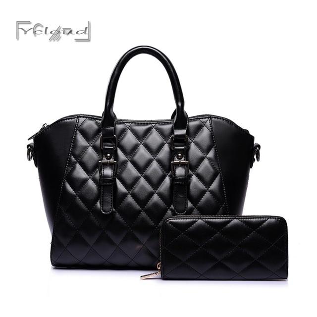f1097fa41c7c5 Ycloud Hot Sale 2 piece Set Women Famous Brand Shoulder Bag ladies Lozenge  tote Fashion Women Messenger Bags Handbags Female Bag