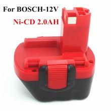Para BOSCH 12 V 2.0AH Reemplazo de la batería de herramientas Para BOSCH GSR AHS GSB GSR PSR 12 12VE BAT043 BAT045 BAT046 BAT049 BAT139 2607335273