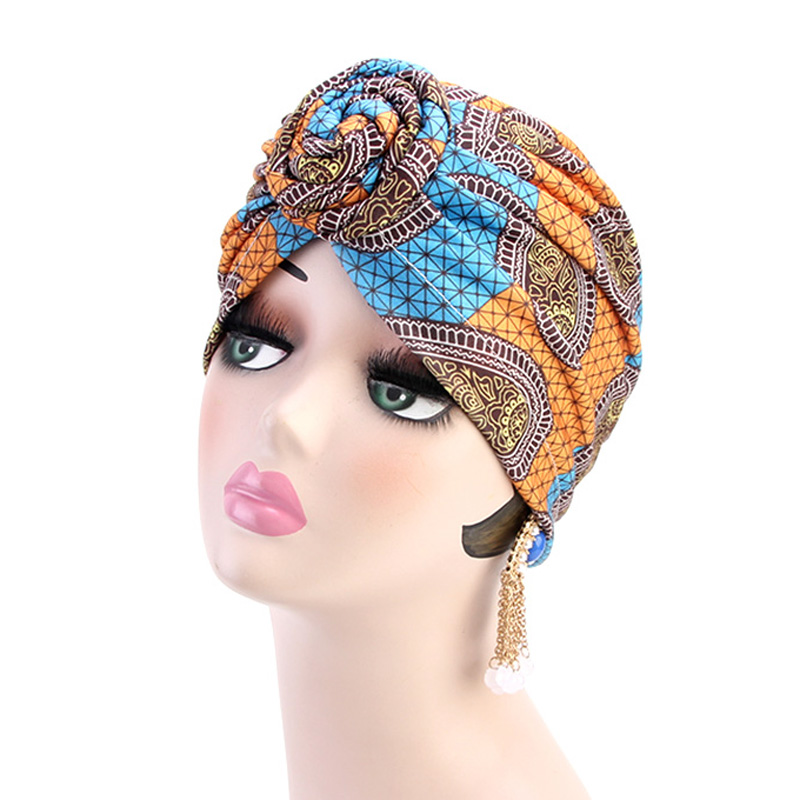 New Women Turban African Pattern Knot Headwrap Fashion Warm Bandana Hats Ladies Chemo Cap Bandanas Hair Accessories