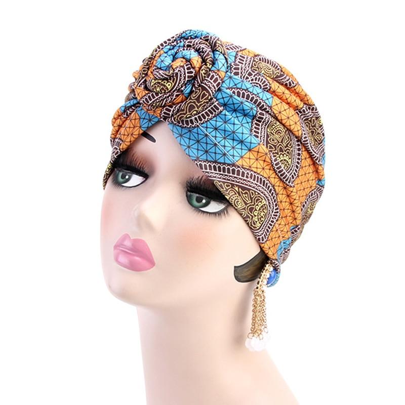 Ashro Black White Gold Beaded African American Pride Shantell Headwrap