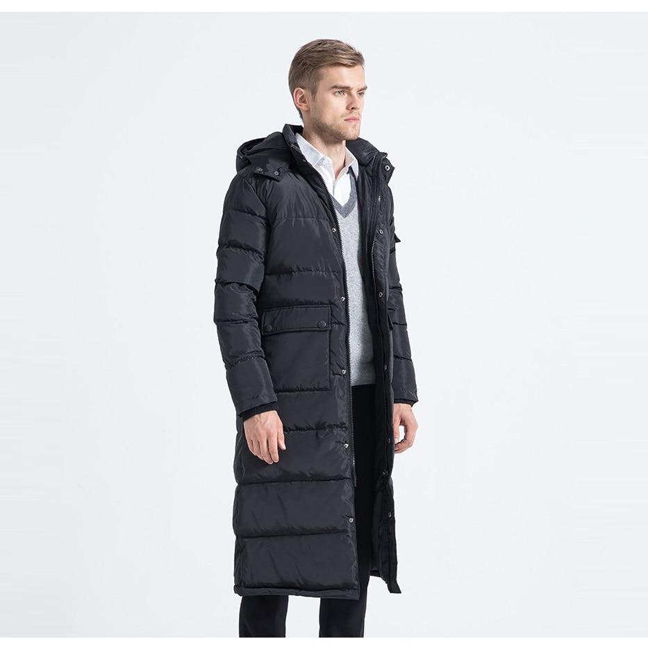2017 Winter Männer Daunenjacke Männer Daunenmantel Winter Lange Jacken Schneeanzug Rollkragen Outwear Xxl 3xl 4xl 60 Kg-100 Kg