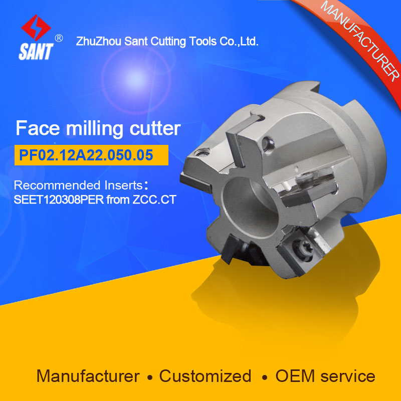 Milling tools Indexable cutter With insert SEET120308PER From ZCC.CT Face cutter disc PF02.12A22.050.05 hot selling abroad