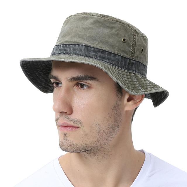 59fcbf908a7f6 VOBOOM Men s Bob Summer Panama Bucket Hats Cotton Green Fishing Wide Brim  Hat UV Protection Cap Sombrero Gorro Sun for Male 139