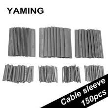 150pcs Black Heat Shrink Tube Environmental Protection Group Combine Car Cable Sleeving Assortment Wrap Wire Kit