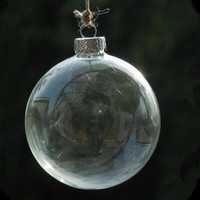 Diameter 20cm 8pcs Pack Glass Christmas Ball Transparent Glass Globe Christmas Day Decoration Different Diameter For