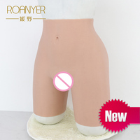 Roanyer silicone penetrable fake vagina pant artificial realistic latex underwear crossdresser Drag Queen transgender shemale