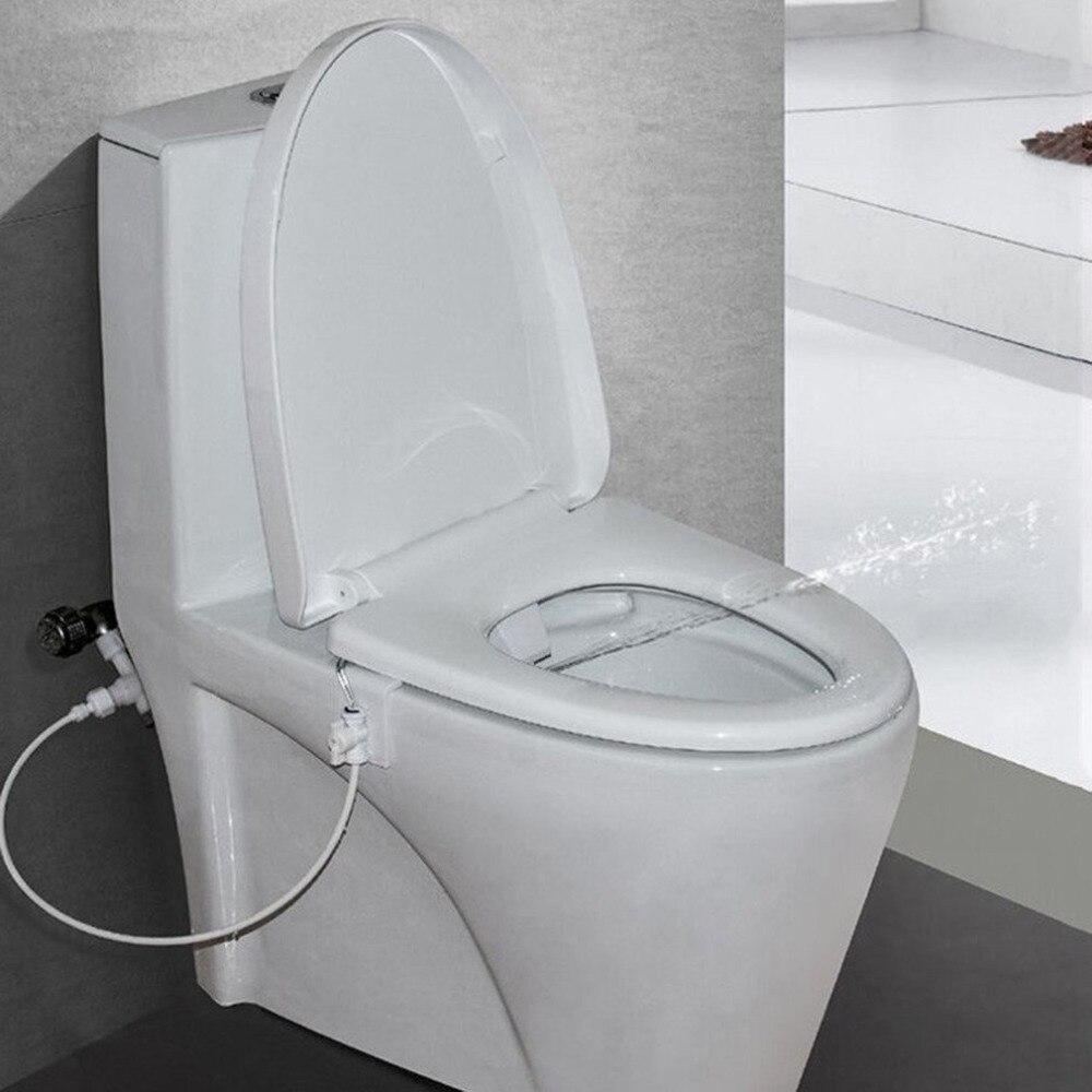 Bathroom Toilet Bidet Fresh Water Spray Seat Attachment Non Electric