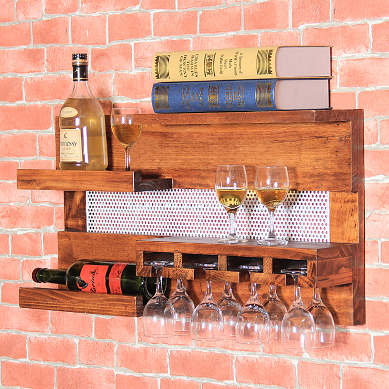 Wooden Wine Rack Shelf Holder Frasqueira Stemware Rack