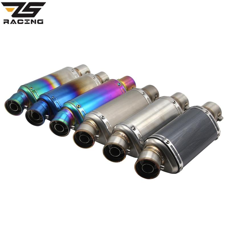 ZS Da Corsa 51mm Moto Akrapovic Yoshimura Tubo Di Scarico Con DB killer Fuga Moto CBR125 CB400 YZF R1 R6 R15 GXSR Z750