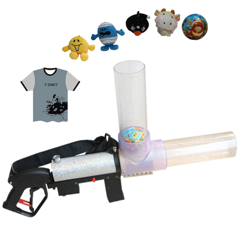 Gigertop New Design T Shirt Launcher Electrical Filling and Multi Shot Gift Pipe Rifle T shirt Gatling Gun with lifting Belt