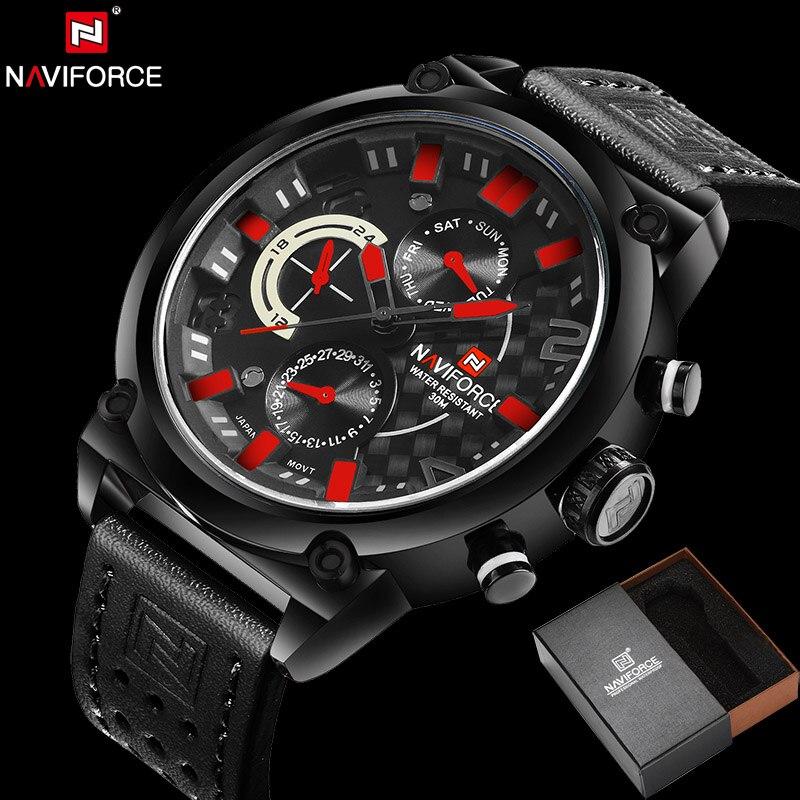 NAVIFORCE Original Luxury Brand Military Quartz Watch mens watch Analog Clock Waterproof Wrist watches relogio masculino
