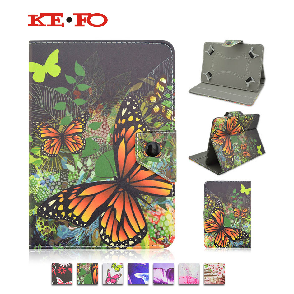 Butterfly Stand PU Leather Case Cover For TurboPad 711/722/702S For Lenovo 7.0 inch funda tablet 7 universal Android KF492A
