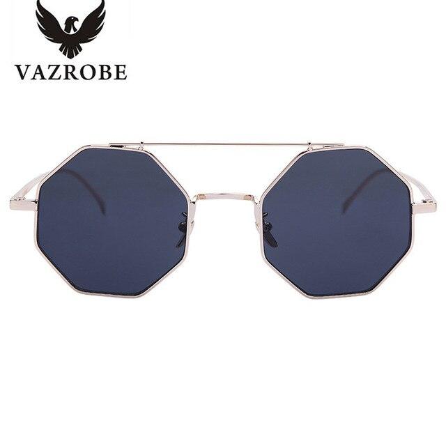 ed3c98df5b Vazrobe Hexagonal gafas de Sol Mujeres de Los Hombres 2017 Gafas de Sol de  Moda para