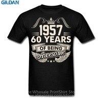 Logo T Shirts Short Sleeve Basic Models Awesome Since 1957 Fashion Crew Neck T Shirts For