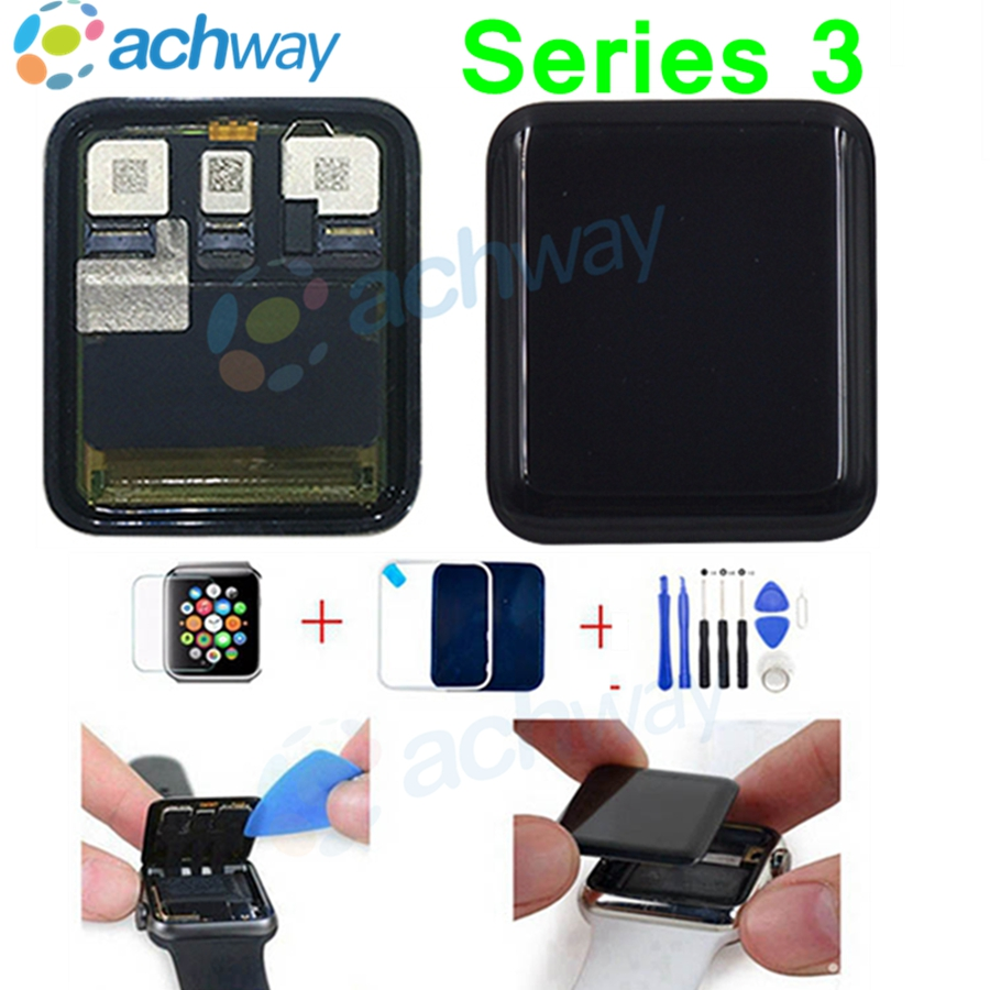 For Apple Watch Series 3 GPS LCD Display Touch Screen Digitizer Series3 S3 38mm 42mm Lcd Pantalla Replacement Tools in Mobile Phone LCD Screens from Cellphones Telecommunications