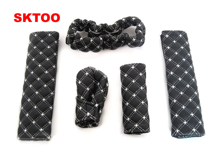 SKTOO for Car interior package automotive supplies five piece set the gear set the hand brake kits safety belt