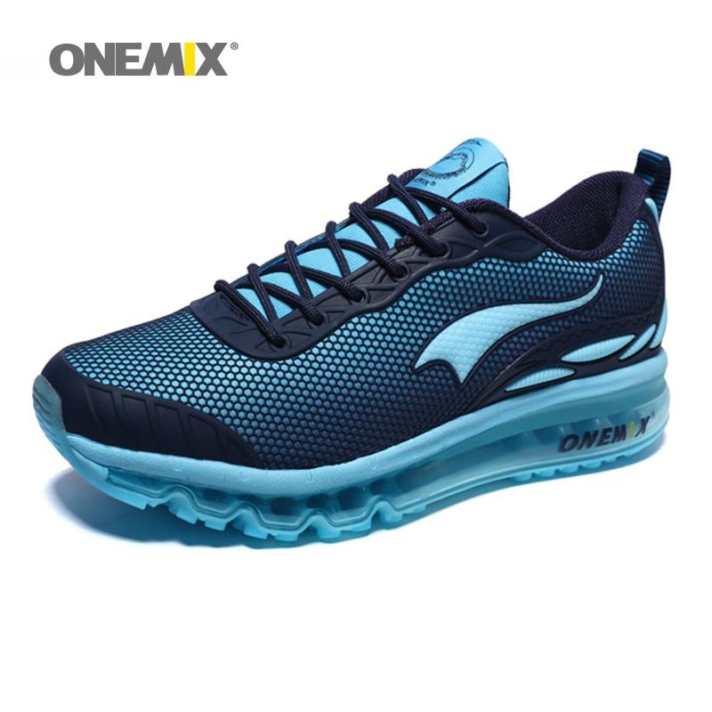 ONEMIX homme chaussures de course taille Max 12 belles tendances courir maille respirant hommes Jogging chaussure Sport pour extérieur marche baskets coussin - 5