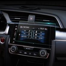 Автомобиль GPS навигации Экран закаленное Сталь защитный Плёнки для Honda Civic 10th 2016 2017 Управление из ЖК-дисплей Экран автомобиля Стикеры