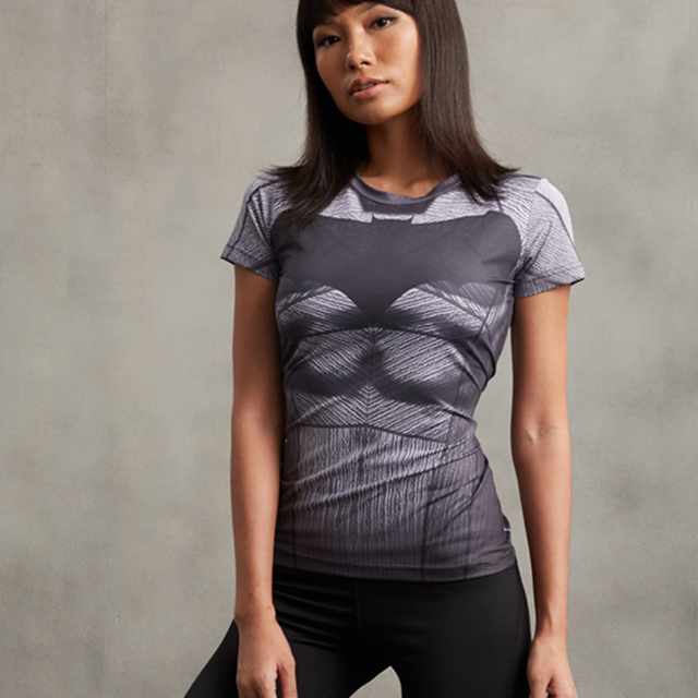 Superman VS Batman Compression Shirt 3D Printed T shirt Women Novelty Short  Sleeve Tops Female Comics Cosplay Costume For Lady 8a0811d83c49