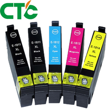 5 Pack 18xl T1811  Ink Cartridge Compatible for INK Expression Home XP-30 XP-102 XP-202 XP-205 XP-302 XP-305 XP-402 XP-405