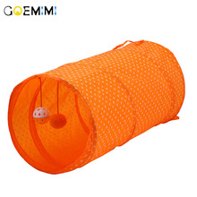 Funny Pet Cat Tunnel Play Tubes Collapsible Crinkle Kitten Toy Ferrets Rabbit 2019