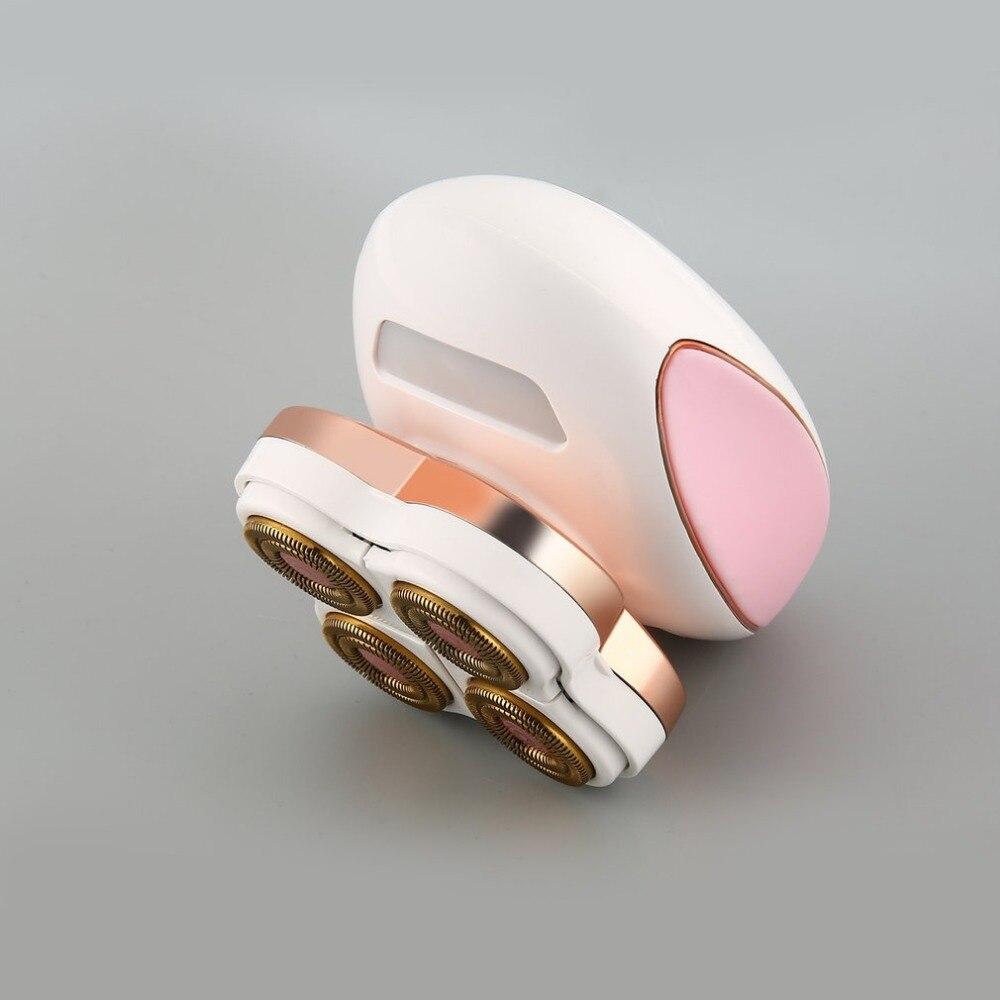 2 en 1 Epilator del removedor del pelo depilación instantánea y dolor Sensor láser Luz segura afeitadora UK EU PLUG USB recargable