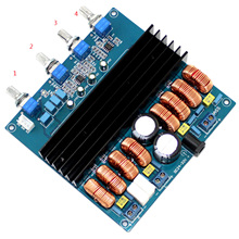 TDA7498 2.1 Class D 200W+100W+100W DC24V to DC32V Digital Power Amplifier Board YJ00257 dc24v 2 channel 100w 100w 2 0 4ohm high power class d sta508 digital car audio hifi amplifier board