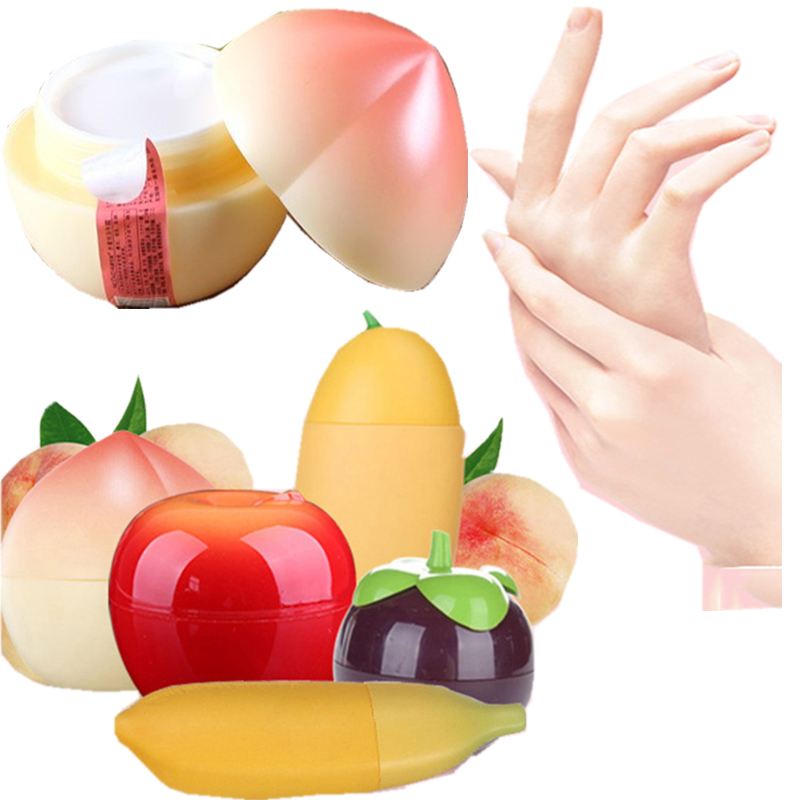Novelty Creative Fruit Shape Hand Cream Moisturizing Nourishing Anti-chapping Hand Skin Care Beauty Maquiagem 1pcs Peach Scent