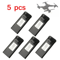 5pcs Lot 3 7V 900mAh Rechargeable LiPo Battery For VISUO TIANQU XS809W FPV Quadcopter RC Drone