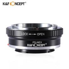 K&F concept Переходное Кольцо FD-NEX FD Объектива на Sony NEX-3 NEX-5 NEX-VG10 NEX фотоаппарата переходник