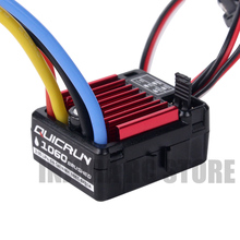 1060 60A Waterproof QUICRUN Brushed ESC Speed Controller with 6V/3A BEC for 1/10 RC Crawler Car