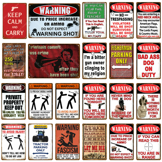 Halloween Wall Decor Metal Warning Vintage Wall Tin Sign Plaque Sign NO Trespassing Sign Plate Funny Yard Garden Sign Plate for Outdoor 8 12